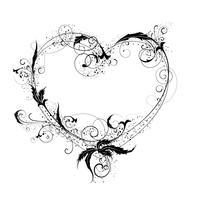 Coração flor ornamental vetor