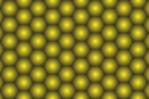 Fundo de hexágono amarelo dourado brilhante vetor