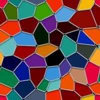 Projeto colorido do polígono do Pentágono com fundo sem emenda. vetor