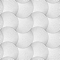 Teste padrão sem emenda do fundo preto e branco na arte do vetor.