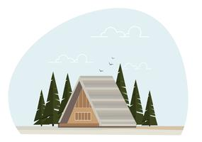 Vetorial, casa, ilustração vetor