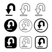 conjunto de ícone de download de sinal simples vetor