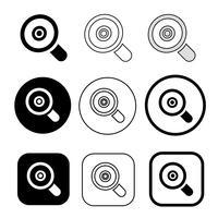 Ícone de pesquisa de sinal de lupa vetor