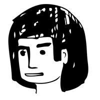 As pessoas enfrentam cartoon ícone do design vetor
