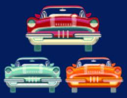 Carros antigos vetor