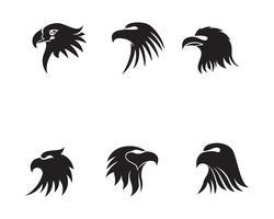 Logotipo de cabeça de águia pássaro e simbolo vector