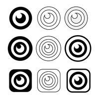 Sinal de conjunto de ícone de olho vetor