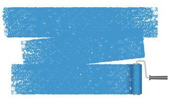 Fundo abstrato do rolo de pintura isolado em um fundo branco. vetor