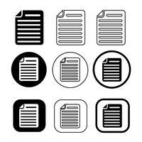 ícone de arquivo de documento simples. Sinal de papel doc vetor