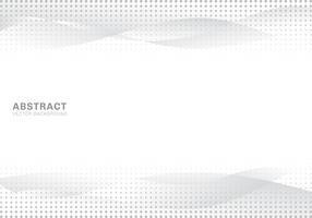 O inclinação branco e cinzento abstrato acena o fundo e a textura de intervalo mínimo modernos da arte dos pontos da textura. Copie o espaço. vetor