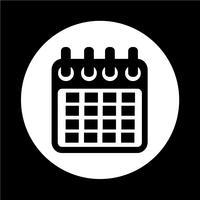 Ícone de calendário vetor