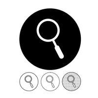 Sinal de ícone de pesquisa vetor