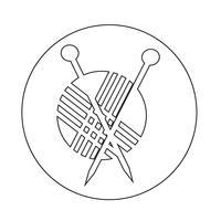 tricô ícone vetor
