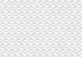 A simetria geométrica realística 3D branca e a cor cinzenta do inclinação cuba o fundo e a textura do teste padrão.
