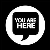 Você está aqui vetor