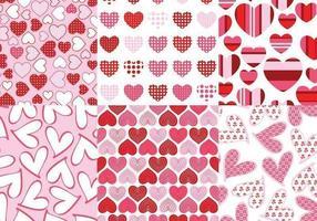 Pacote de padrão de vetor de corações amorosos