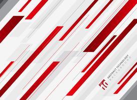 Movimento brilhante geométrico da cor vermelha abstrata da tecnologia fundo diagonalmente. Modelo de folheto, impressão, anúncio, revista, cartaz, site, revista, folheto, relatório anual. vetor