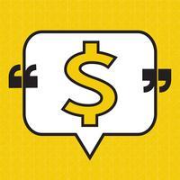 Ícone de dinheiro de cifrão vetor