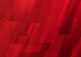Diagonal geométrica vermelha abstrata com estilo moderno da tecnologia digital do fundo da textura do teste padrão de pontos. vetor