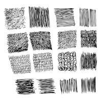 Mão de vetor desenhado linha de esboço de tinta de traçado de pincel