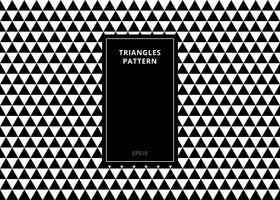 Teste padrão sem emenda geométrico elegante do fundo abstrato feito em triângulos preto e branco com espaço vertical da cópia do quadro do retângulo.