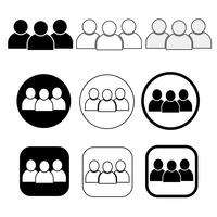Sinal de conjunto de ícone de pessoas vetor