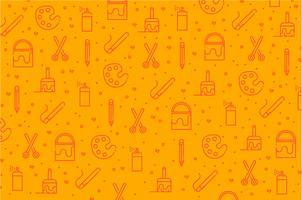 Fundo de padrão de ícone de ferramentas de arte vetor