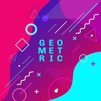 Formas geométricas coloridas abstratas e fundo na moda do projeto de cartão do estilo de memphis da forma dos formulários. Você pode usar para cartaz, folheto, layout, modelo ou apresentação. vetor