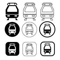 Conjunto de ícone de trem de transporte vetor