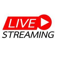 Live streaming on-line vector design de sinal