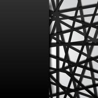 O preto abstrato do molde alinha o fundo branco de sobreposição futurista. Conexão digital.