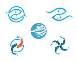 Peixe, logotipo, modelo vetor