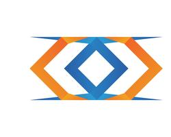 X Letter Logo Template ícone do vetor