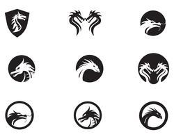 Dragão icon ilustração vetorial vetor
