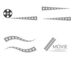 projetos de ilustração de modelo de vector de película de filme