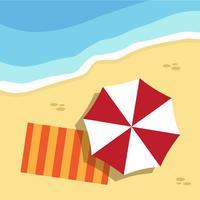 Horário de verão e praia vetor