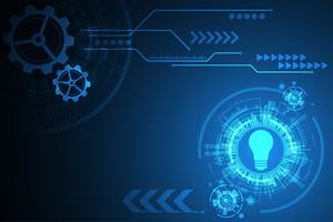 Projeto abstrato da tecnologia do fundo do vetor.