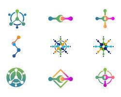 Projeto de ilustração vetorial de molécula vetor