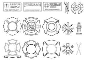 Pacote de vetores do corpo de bombeiros