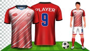 Futebol Jersey e futebol Kit apresentação Mockup modelo.