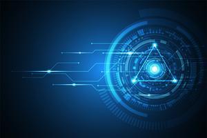 Inovação abstrata da tecnologia do fundo do vetor do futuro.