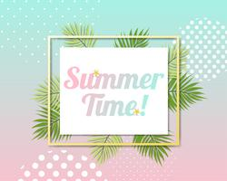 Belo banner de verão e cartão de cartaz