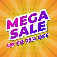 Projeto de Banner de promoção de venda mega vetor