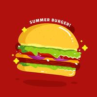 Vetor de alimentos de verão