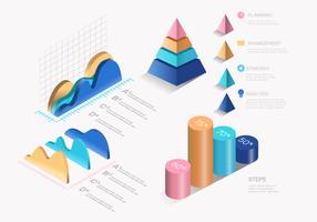Modern Infográfico 3D Elements Vector Set