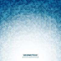 Os triângulos geométricos abstratos modelam o fundo azul com lugar para o texto. Modelo de design criativo.