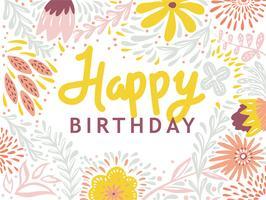 Tipografia Feliz Aniversário vetor