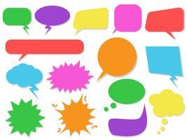 Conjunto de bolhas do discurso colorido - ilustração vetorial