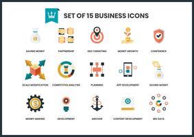 Ícones de negócios definido para negócios vetor