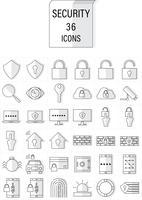 segurança de ícone vetor